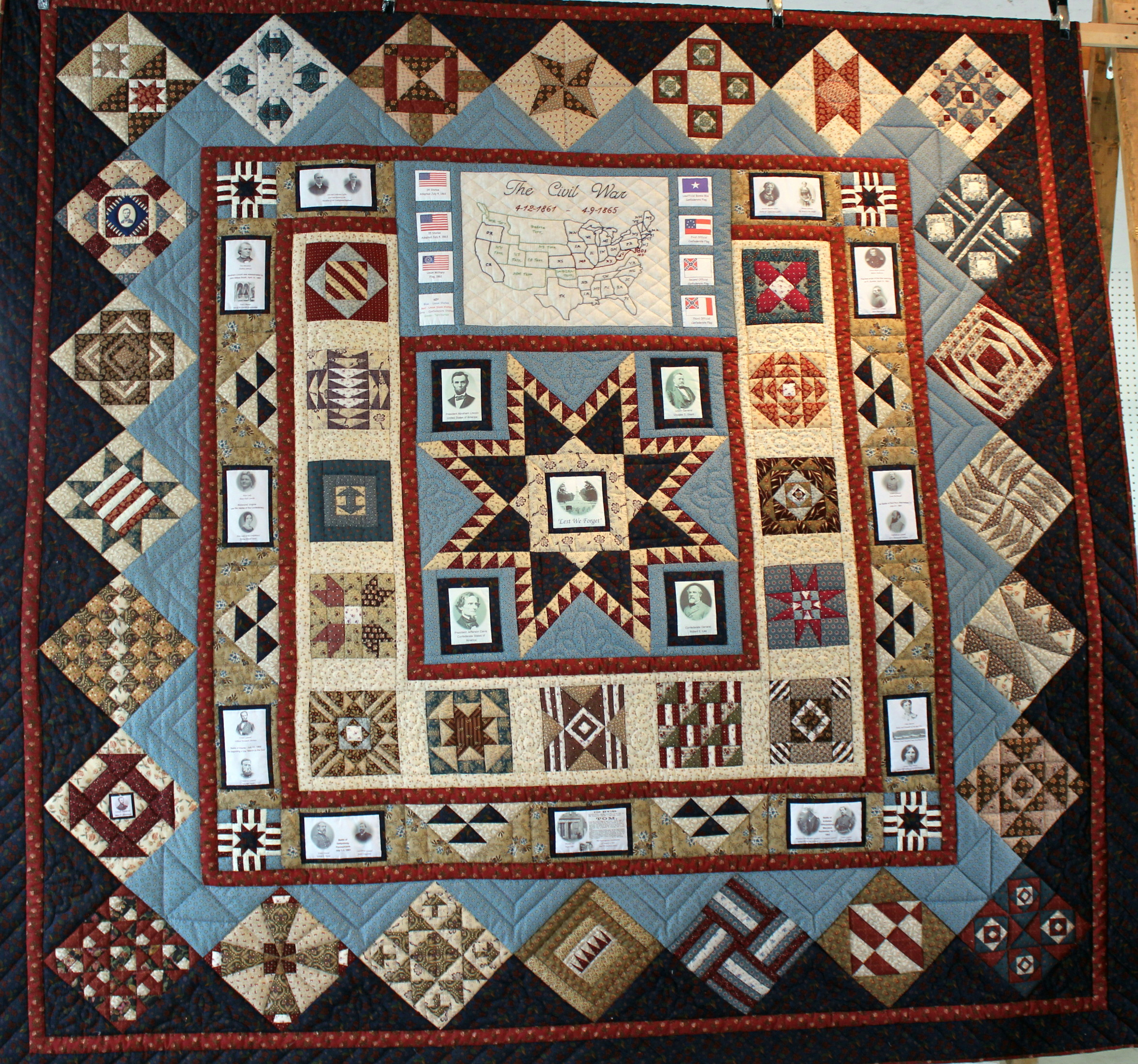 Lest We Forget – A Civil War Quilt | Country Fest & Auction : quilt civil war - Adamdwight.com